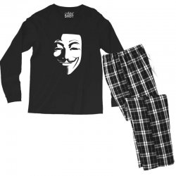 guy fawkes anonymous mask 2019 Men's Long Sleeve Pajama Set | Artistshot