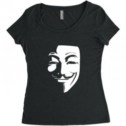 guy fawkes anonymous mask 2019 Women's Triblend Scoop T-shirt | Artistshot
