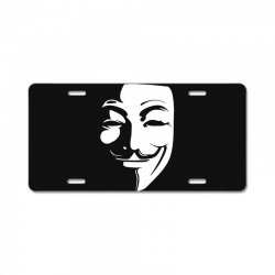 guy fawkes anonymous mask 2019 License Plate | Artistshot