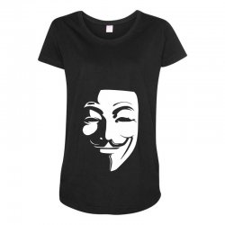 guy fawkes anonymous mask 2019 Maternity Scoop Neck T-shirt | Artistshot