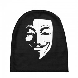 guy fawkes anonymous mask 2019 Baby Beanies | Artistshot