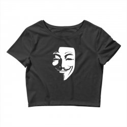 guy fawkes anonymous mask 2019 Crop Top | Artistshot