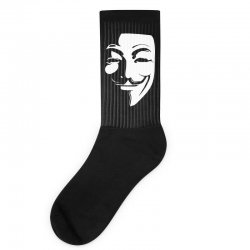 guy fawkes anonymous mask 2019 Socks | Artistshot