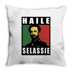 haile selassie emperor ethiopia rastafari Throw Pillow | Artistshot