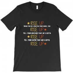 hamilton musical quote rise up T-Shirt | Artistshot