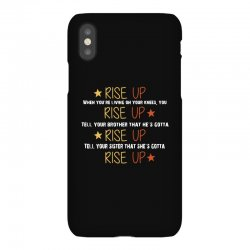 hamilton musical quote rise up iPhoneX Case | Artistshot