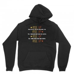 hamilton musical quote rise up Unisex Hoodie | Artistshot
