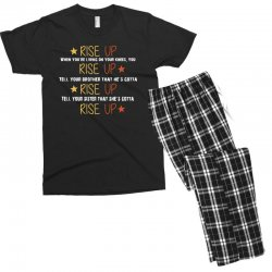 hamilton musical quote rise up Men's T-shirt Pajama Set | Artistshot