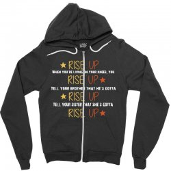 hamilton musical quote rise up Zipper Hoodie | Artistshot
