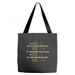 hamilton musical quote rise up Tote Bags | Artistshot