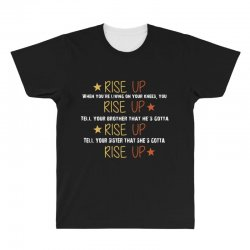 hamilton musical quote rise up All Over Men's T-shirt | Artistshot