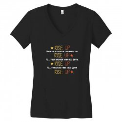 hamilton musical quote rise up Women's V-Neck T-Shirt | Artistshot