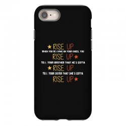 hamilton musical quote rise up iPhone 8 Case | Artistshot
