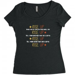 hamilton musical quote rise up Women's Triblend Scoop T-shirt | Artistshot