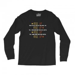 hamilton musical quote rise up Long Sleeve Shirts | Artistshot