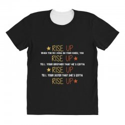 hamilton musical quote rise up All Over Women's T-shirt | Artistshot