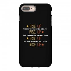 hamilton musical quote rise up iPhone 8 Plus Case | Artistshot