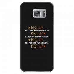 hamilton musical quote rise up Samsung Galaxy S7 Case | Artistshot