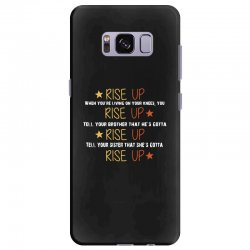 hamilton musical quote rise up Samsung Galaxy S8 Plus Case | Artistshot
