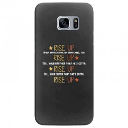 hamilton musical quote rise up Samsung Galaxy S7 Edge Case | Artistshot