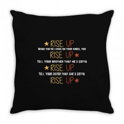 hamilton musical quote rise up Throw Pillow | Artistshot