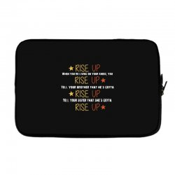 hamilton musical quote rise up Laptop sleeve | Artistshot