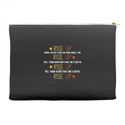 hamilton musical quote rise up Accessory Pouches | Artistshot