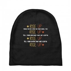 hamilton musical quote rise up Baby Beanies | Artistshot