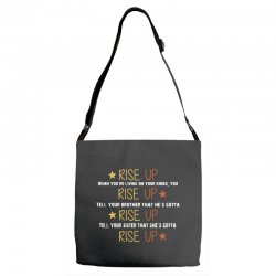 hamilton musical quote rise up Adjustable Strap Totes | Artistshot