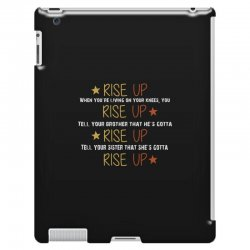 hamilton musical quote rise up iPad 3 and 4 Case | Artistshot