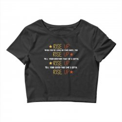 hamilton musical quote rise up Crop Top | Artistshot
