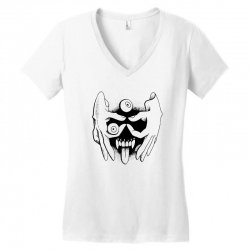 hand face Women's V-Neck T-Shirt | Artistshot