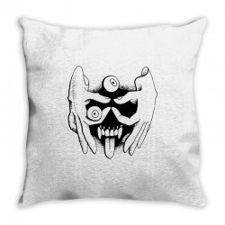 hand face Throw Pillow | Artistshot