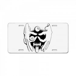 hand face License Plate | Artistshot
