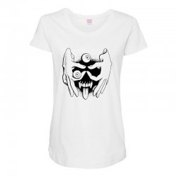 hand face Maternity Scoop Neck T-shirt | Artistshot