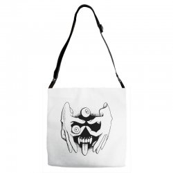 hand face Adjustable Strap Totes | Artistshot