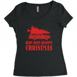 hap hap happy christmas Women's Triblend Scoop T-shirt | Artistshot