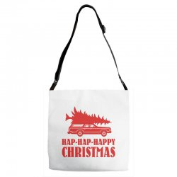 hap hap happy christmas Adjustable Strap Totes | Artistshot