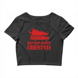 hap hap happy christmas Crop Top | Artistshot