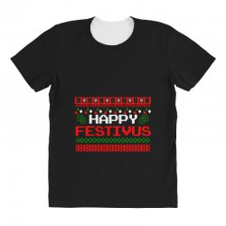 happy festivus ugly christmas All Over Women's T-shirt | Artistshot