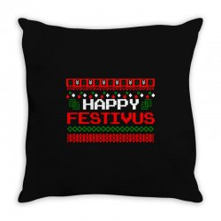 happy festivus ugly christmas Throw Pillow | Artistshot
