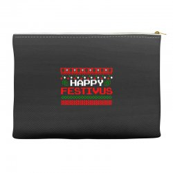happy festivus ugly christmas Accessory Pouches | Artistshot
