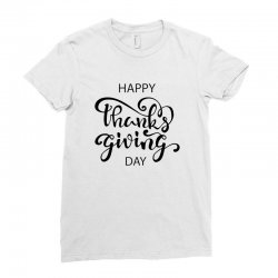 happy thanks giving caption Ladies Fitted T-Shirt | Artistshot