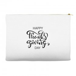 happy thanks giving caption Accessory Pouches | Artistshot