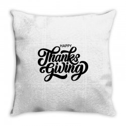 happy thanks giving Throw Pillow | Artistshot