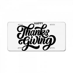 happy thanks giving License Plate | Artistshot