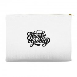 happy thanks giving Accessory Pouches | Artistshot