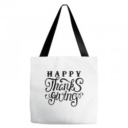 happy thanksgiving lettering Tote Bags | Artistshot