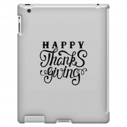 happy thanksgiving lettering iPad 3 and 4 Case | Artistshot