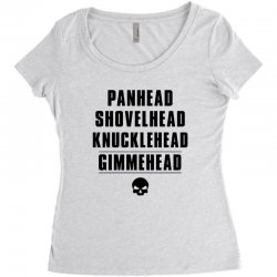 harley davidson t shirt gimmehead t shirt knucklehead engine Women's Triblend Scoop T-shirt | Artistshot